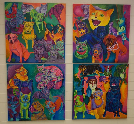 Donna Essig original painting Franklin County Humane Society Rocky Mount Virginia