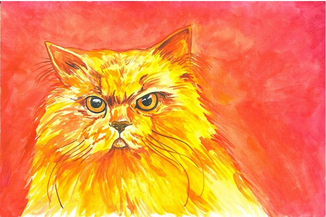 Donna Essig watercolor cat