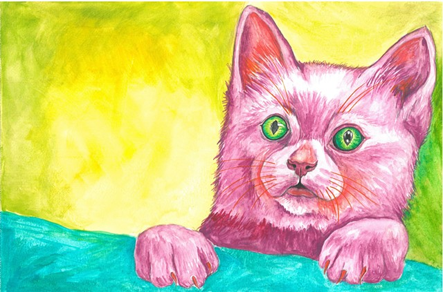 Tim kitten watercolor Donna Essig