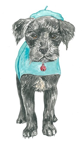 Pepe Dog watercolor Donna Essig