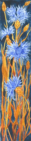 cornflowers watercolor painting Donna Essig