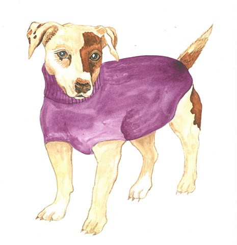 Rascal Dog Jack Russell Terrier watercolor Donna Essig
