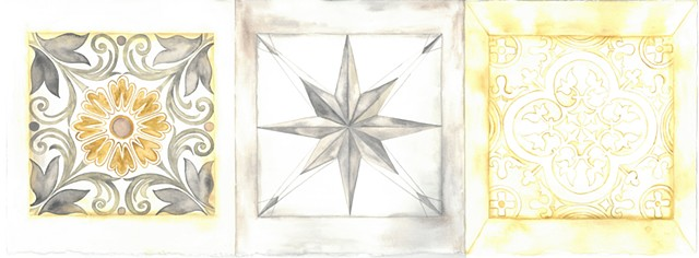 Flower Star & Vine Medallion