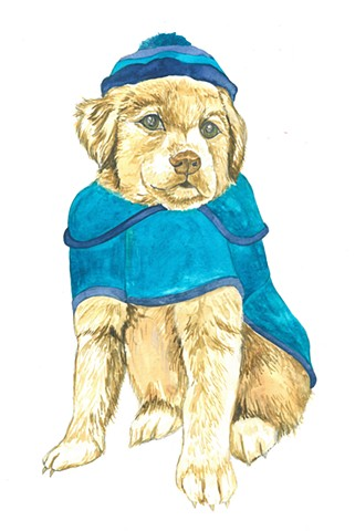 Foster puppy watercolor Donna Essig
