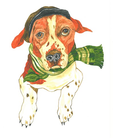 Lil Bubs dog watercolor Donna Essig