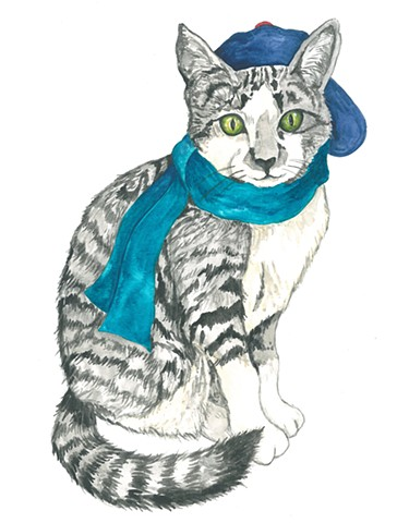 Purrkins kitten watercolor Donna Essig