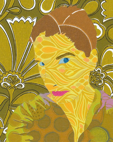 Self Portrait in Seventies Wallpaper I