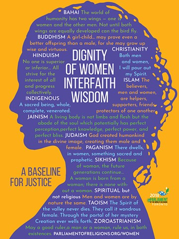Parliament of World's Religions Women's Task Force Poster