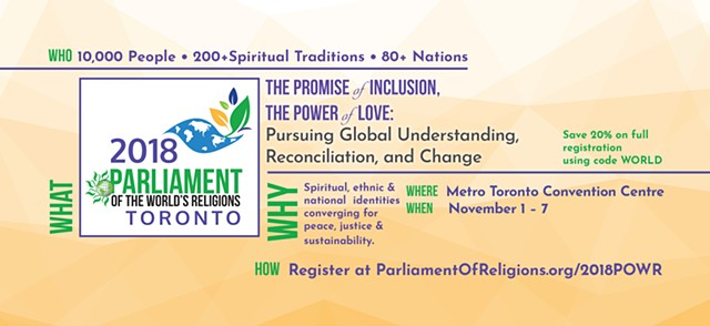 Parliament of World's Religions Speaker Oriented Postcard #2, Front Side