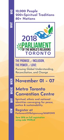 Parliament of World's Religions Speaker Oriented Postcard #1, Front Side