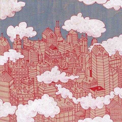 Dark Sky Red City / Sold