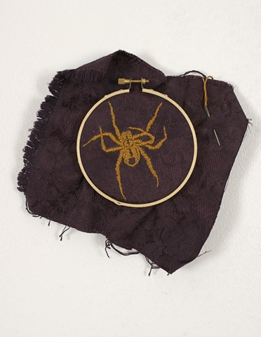 embroidery, spider, arachne