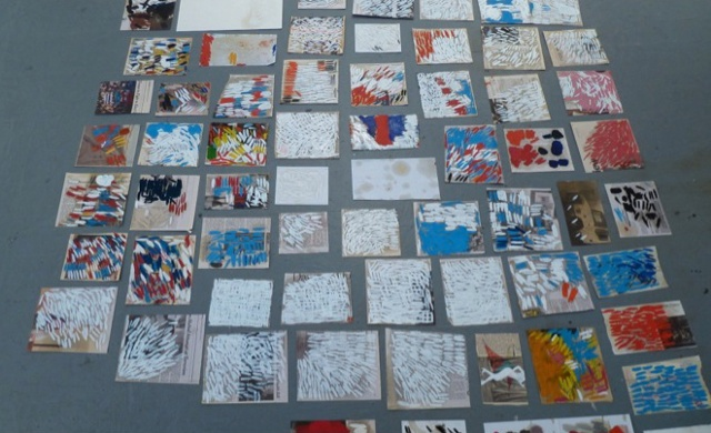 group of superpages drawings in the studio