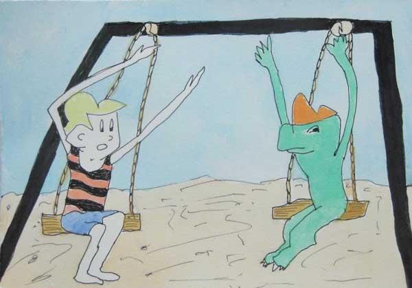 Boy and Dino