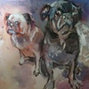 Bogart and Puck --SOLD