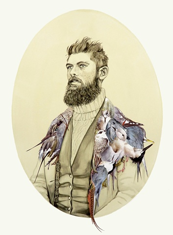 Man Adorned With Seabirds