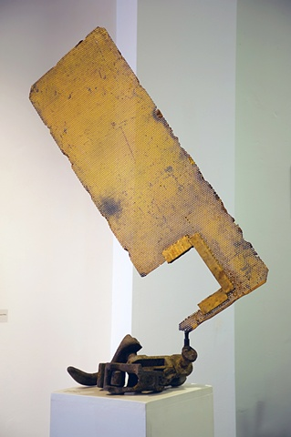This work is categorized as Assemblage, Found and Fabricated or Junk sculpture by artist, Milt Friedly.