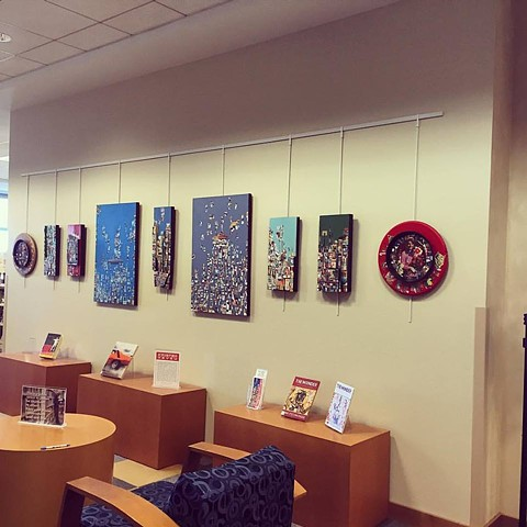 Exhibition at Gallery 1501, Des Plaines Library