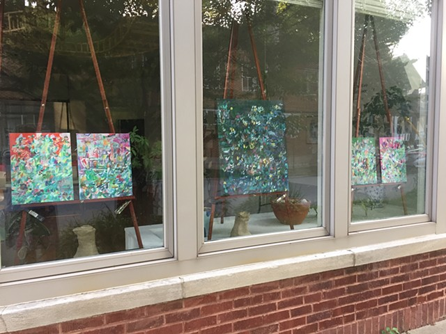 Paintings Window Exhibition at 1100 Florence, Evanston, IL July 2020