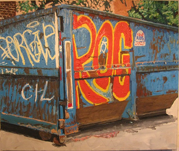 Big Blue Dumpster