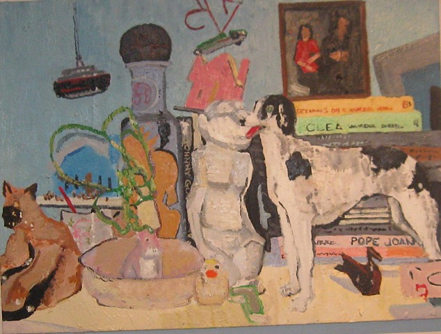 Still life with Porcelain Borzoi