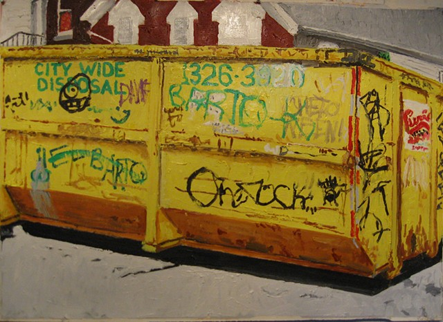 Dumpster and Red House