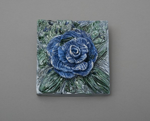 Blue Rose, wall plaque SOLD