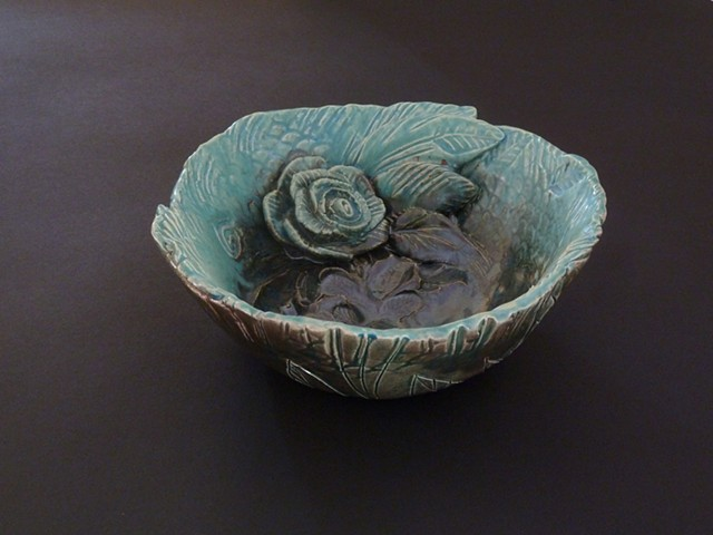 Carved Bowl with Rose