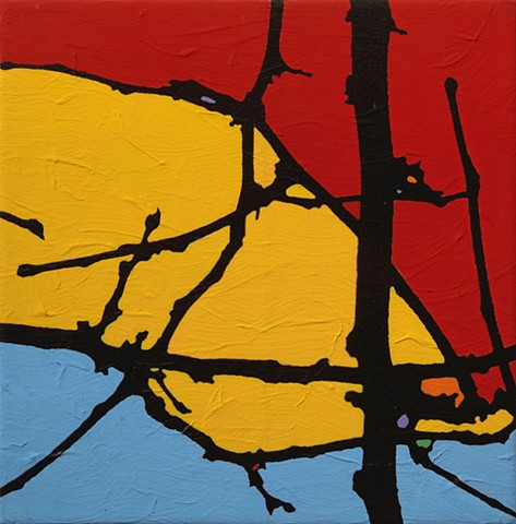 Abstract landscape painting by Will Holub