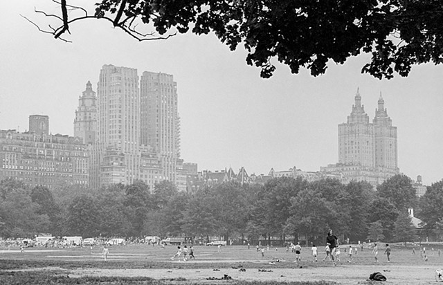 Baseball Players in Central Park