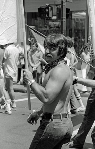 Man Wearing a Bandana (1976 NYC Gay Pride Parade)