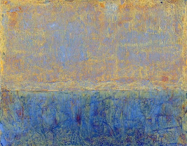 Blue Yellow Split Field