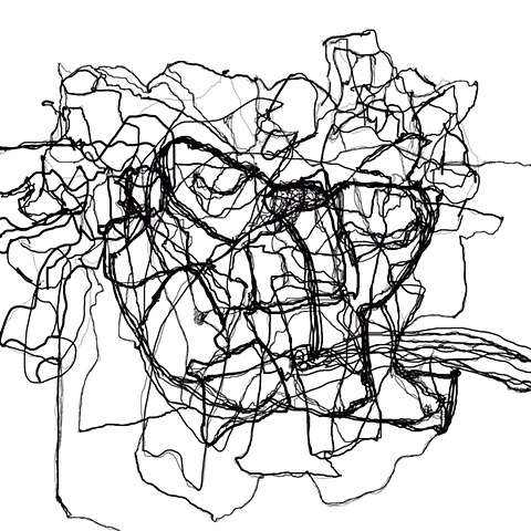 Untitled line drawing 3 white