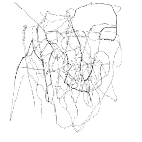 Untitled line drawing 7 white