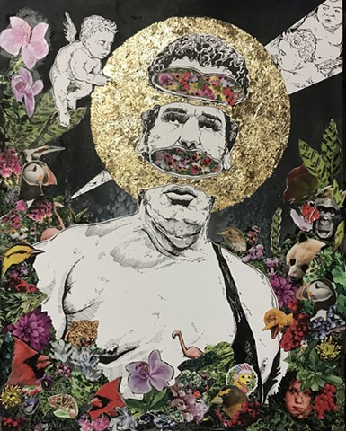 Andre the Giant Collage Art