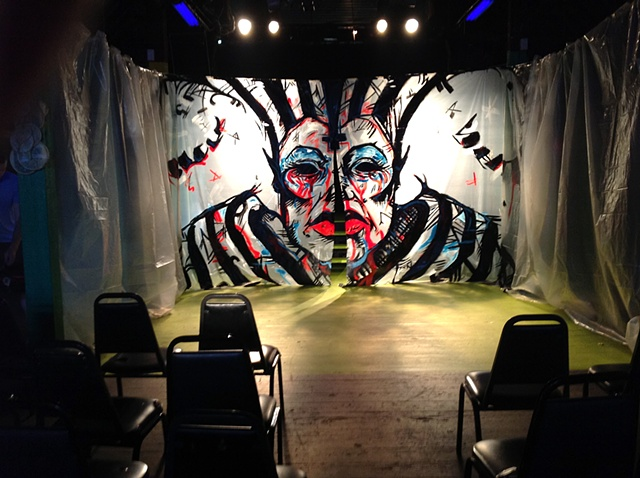 BACKDROP FOR BLOOD AND GLITTER PERFORMANCE SHOW (INSTALLED)