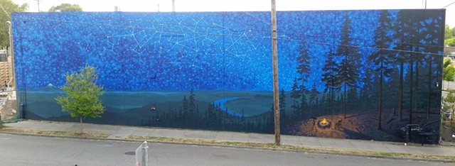 North Portland mural at Ecliptic Brewing (825 N. Cook) in Portland OR