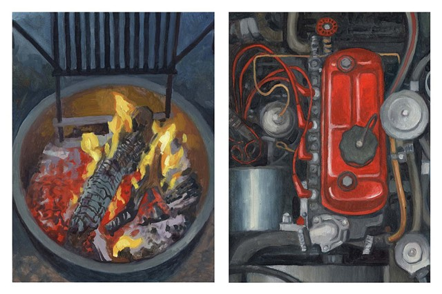 Diptych #1 (Fire and Engine)