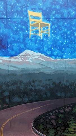 """The Big Back Yard"" mural in Boise, Idaho - detail"