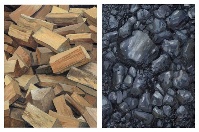 Diptych # 5 (Firewood and Coal)