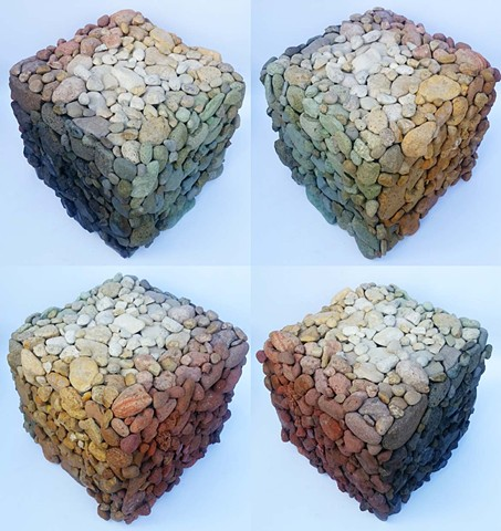River Rock Color Cube - four views