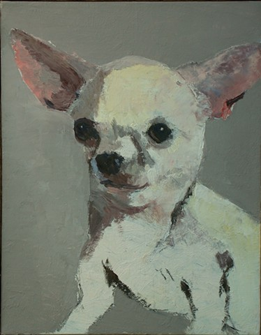 Dog art pet portrait painting of Chihuahua