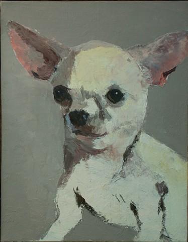 Dog art pet portrait painting of Chihuahua