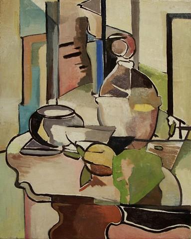 still life, lemon, abstraction