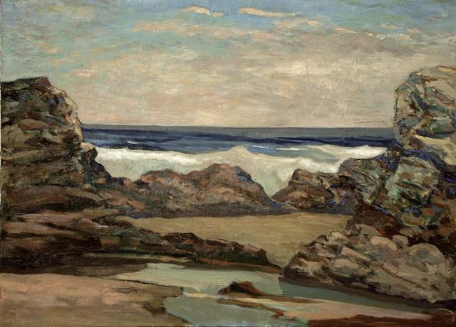 Northern California coastal landscape of Bodega Bay seascape
