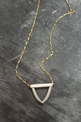 Rounded Triangle Necklace