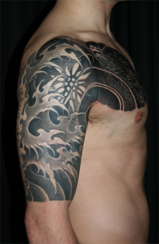 Water halfsleeve - right arm