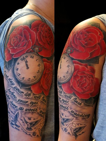 Pocketwatch & roses