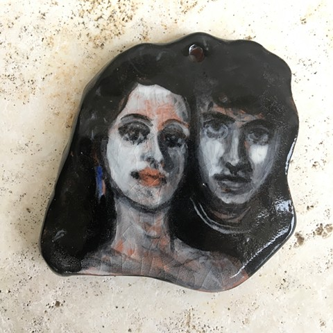 hand made, hand painted ceramic The Lost Boys wall hanging/ornament