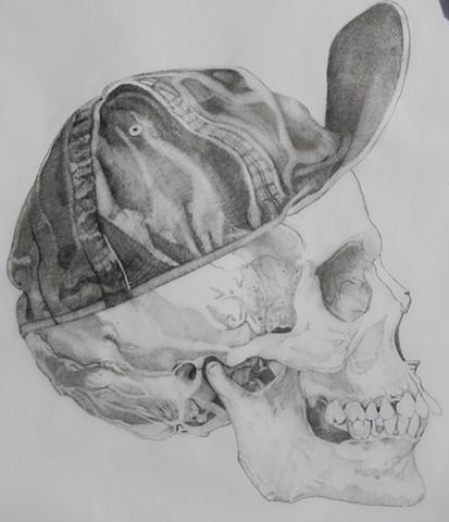 Skull with flip hat